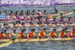 Dragon Boat Festival Competition - Dragon Boat Race tradicionais foto de stock royalty free