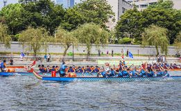 Dragon Boat Festival Competition - Dragon Boat Race tradicionais fotografia de stock