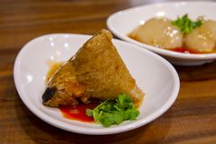 Dragon Boat Festival, culin?ria tradicional, costeleta feito a m?o da carne imagem de stock royalty free