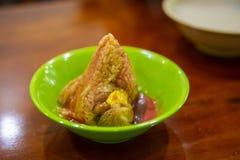 Dragon Boat Festival, culin?ria tradicional, costeleta feito a m?o da carne imagem de stock