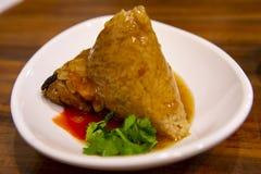 Dragon Boat Festival, culin?ria tradicional, costeleta feito a m?o da carne foto de stock