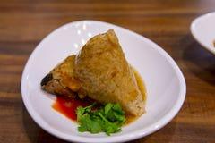Dragon Boat Festival, culin?ria tradicional, costeleta feito a m?o da carne fotos de stock