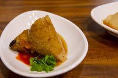 Dragon Boat Festival, culin?ria tradicional, costeleta feito a m?o da carne fotografia de stock