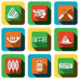 Dragon boat festival Icon design set