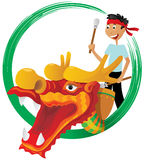Dragon boat festival illustration Stock Photography
