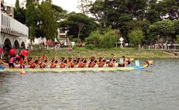 2014 Dragon Boat Festival in Kaohsiung, Taiwan Stock Afbeelding