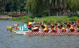 2014 Dragon Boat Festival in Kaohsiung, Taiwan Royalty-vrije Stock Foto