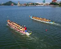 2014 Dragon Boat Festival in Kaohsiung, Taiwan Royalty-vrije Stock Afbeelding