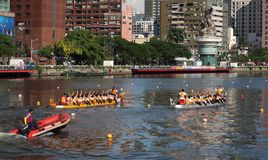 The 2013 Dragon Boat Festival in Kaohsiung, Taiwan Stock Photo