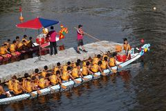 The 2013 Dragon Boat Festival in Kaohsiung, Taiwan Royalty Free Stock Photography