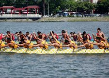 The 2014 Dragon Boat Festival in Kaohsiung, Taiwan Royalty Free Stock Photo