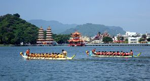 The 2014 Dragon Boat Festival in Kaohsiung, Taiwan Stock Photo