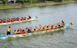 The 2014 Dragon Boat Festival in Kaohsiung, Taiwan Stock Photography