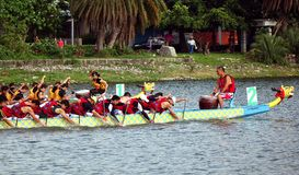 The 2014 Dragon Boat Festival in Kaohsiung, Taiwan Royalty Free Stock Image