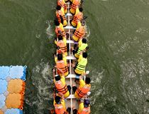 The 2014 Dragon Boat Festival in Kaohsiung, Taiwan Royalty Free Stock Images
