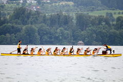 Dragon boat festival on lake zurich Stock Images