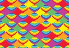 Dragon Boat Festival-regenboog naadloos patroon Stock Foto's