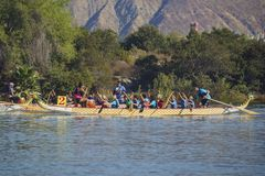 Dragon boat festival at Santa Fe Dam Recreation Area Stock Image