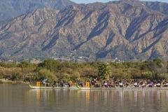 Dragon boat festival at Santa Fe Dam Recreation Area Stock Photo