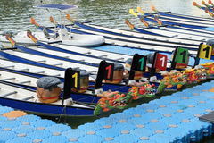 Dragon boat festival at Singapore river Stock Photos