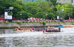The 2016 Dragon Boat Festival in Taiwan Royalty Free Stock Photo