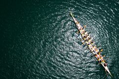 Free Dragon Boat From Above Royalty Free Stock Images - 171902169