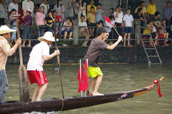 Dragon boat in Guangzhou Stock Photography