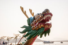 Dragon boat head Royalty Free Stock Image