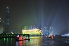 Dragon Boat i den Guangzhou kantonen Kina fotografering för bildbyråer