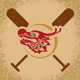 Dragon boat illustration Royalty Free Stock Photography