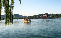 A dragon boat in Kunming lake Stock Image