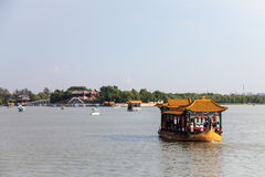 Dragon boat on lake Kunming at summer palace, Beijing Royalty Free Stock Photography