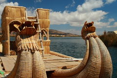 Dragon Boat on Lake Titicaca Royalty Free Stock Images
