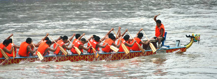 Dragon boat match Royalty Free Stock Photo