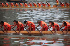 Dragon boat match in china Stock Photography