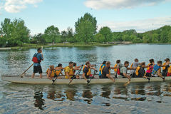 Dragon Boat Practice Ottawa Ontario Canada Stock Photos