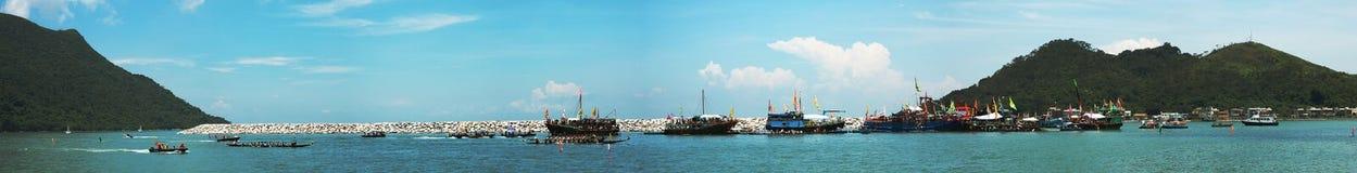Dragon Boat Race. A Dragon Boat Race at Tai O Stock Image
