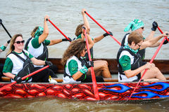 Dragon Boat Race Image libre de droits