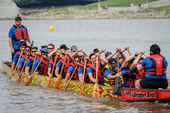 Dragon Boat Race Royaltyfri Fotografi
