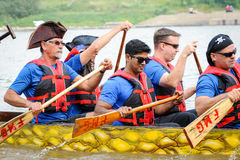 Dragon Boat Race Royaltyfria Bilder