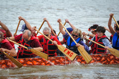 Dragon Boat Race Royaltyfria Foton