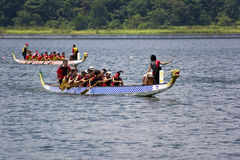 Dragon Boat Race Action Royalty Free Stock Photo