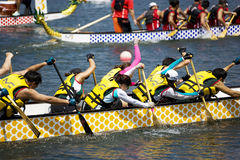 Dragon Boat Race Action Royalty Free Stock Image
