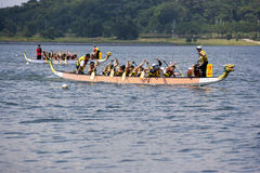 Dragon Boat Race Action Royalty Free Stock Images