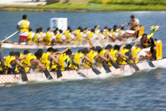Dragon Boat Race Action (Blurred) Royalty Free Stock Photos