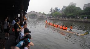 Dragon boat race in China Stock Image
