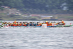Dragon boat race. Dragon Boat Competition Motion Blur Royalty Free Stock Photo