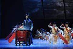 Dragon Boat Race - De derde handeling van de gebeurtenissen van dans drama-Shawan van het verleden royalty-vrije stock foto's
