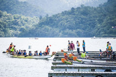 Dragon Boat Race. The dragon boat race December 2013 event at Penang Stock Photo