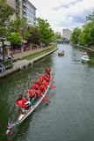 Dragon Boat Race royaltyfri foto